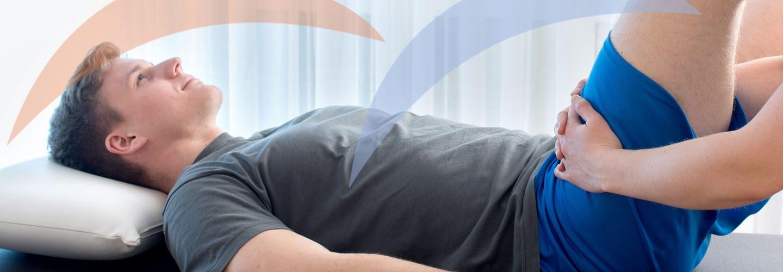 Physiotherapie Mobilisation des Oberschenkels